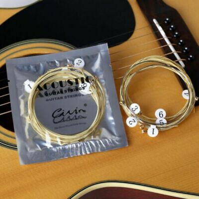 NEW Set of 6 Replacement Steel Acoustic Guitar Strings UK - HOT SALE