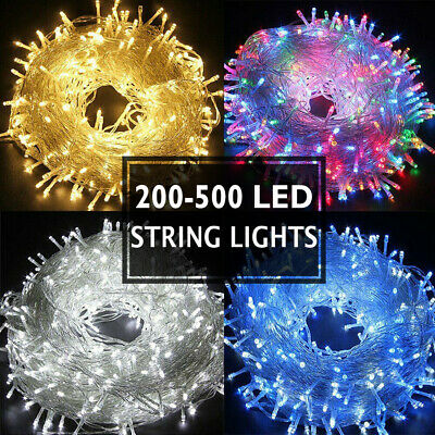 20-100M LED Fairy Christmas String Strip Warm/Cool White RGB Light Party Outdoor