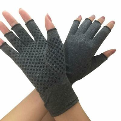 UK Compression Fingerless Gloves Anti Arthritis Finger Brace Support Pain Relief