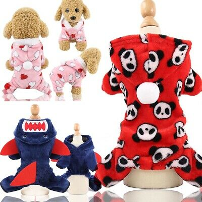 Winter Dog Coats Pet Cat Puppy Chihuahua Clothes Stars Hoodie Warm Costume Lot