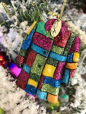NIB Dolly Parton Coat of Many Colors Christmas Ornament Dollywood Exclusive