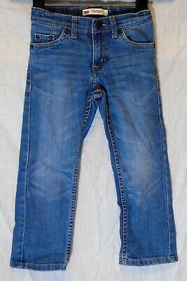 Boys Levi's 511 Mid Blue Whiskered Denim Regular Slim Fit Jeans Age 3-4 Years