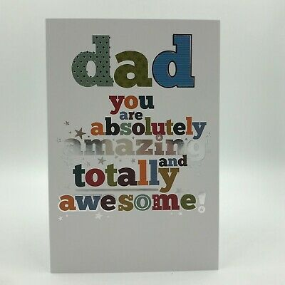 Dad Birthday Card. Absolutely Amazing Awesome By Simon Elvin Cards