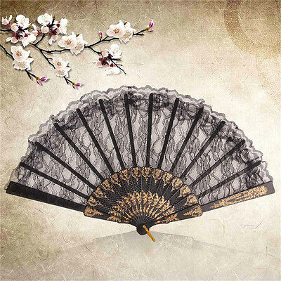 Silk Fold Hand Fan In Elegant Cut Wedding Gift With Case Fresh Manual Fan#W5H