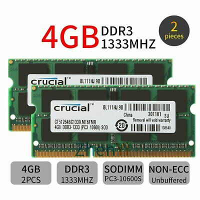 1640 Notebooks DDR3 A29 8GB 2x4GB RAM Memory Compatible with Dell Studio 16