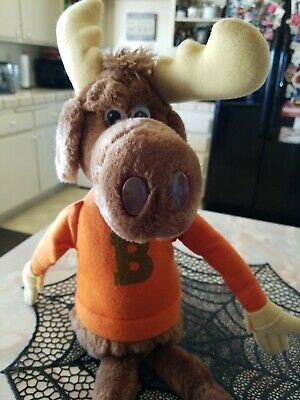 VINTAGE BULLWINKLE STUFFED TOY - 1982 - WALLACE BERRIE Toys RARE GREAT CONDITION