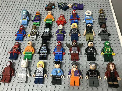 30 x LEGO Super Heroes Minifigure Joblot Bundle Marvel DC Spider Man Batman Thor