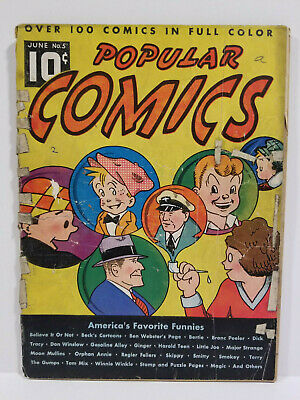 Popular Comics # 5, Dick Tracy, Don Winslow, Terry and the Pirates (Dell 1936)
