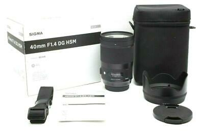 Mint Sigma 40mm f1.4 DG HSM Art Lens for Canon EF With Box #30812