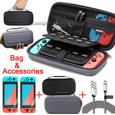 Accessories Case Bag Shell Cover+Charging Cable+Protector for Nintendo Switch