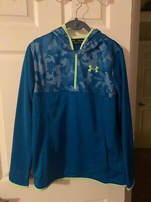Brand New With Tags Boys YXL Under Armour Blue Hoodie Pullover $49