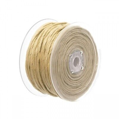 50m Roll 4mm Thick Paper Rope - Bulk 1ply Natural Brown Twisted Kraft Cord Twine