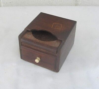 Fascinating Antique Wooden Box Watch Holder Drawer for Jewelry  Below