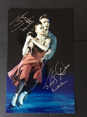 TORVILL AND DEAN ICE SKATING OLYMPICS HAND SIGNED AUTOGRAPH 4x5.5 PHOTO