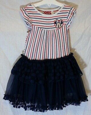 Girls Primark Disney Minnie Mouse Blue Mesh Layered Party Dress Age 2-3 Years
