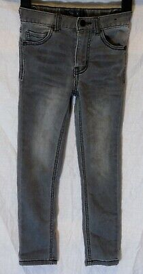 Boys Next Mid Grey Whiskered Denim Skinny Fit Stretch Jeans Age 6 Years