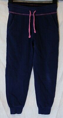 Girls George Blue Pink Drawstring Waist Comfy Cuffed Joggers Age 6-7 Years