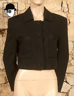 'LOUIS FERAUD' 80s EVENING JACKET - UK 12 - (Z)