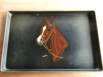 Hand Painted Tray With Horse * Meyer's Of Lexington Kentucky