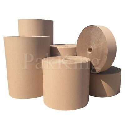 Any Length 750mm Wide BROWN CORRUGATED CARDBOARD ROLLS Strong Packing Paper