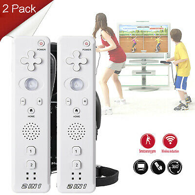 2 Pack x Built in Motion Plus Remote Controller For Wii Game Console US SHIP