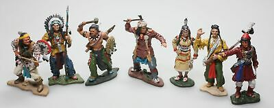 Figurines Indiens 1/32 - Assortiment 7 pièces