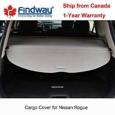 Grey Cargo Cover Anti-Theft Shield For 2014-2020 Nissan Rogue