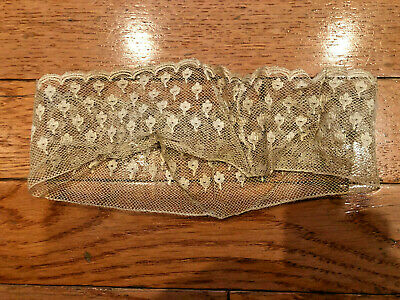 Antique Victorian / Edwardian Off White Lace Floral Garter