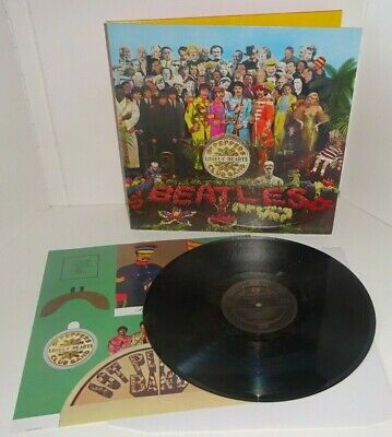 THE BEATLES SGT PEPPER'S LONELY HEARTS CLUB BAND DMM UK REISSUE LP w/insert TOP