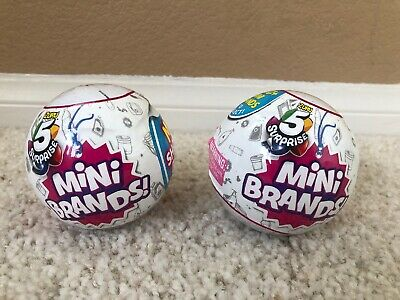 5 Surprise Mini Brands BALL By ZURU 2 New SEALED Balls