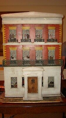 Antique mid 19th century Silber and Fleming dollhouse with contents- Doll House