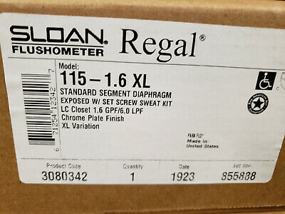 Sloan Regal 115-1.6 XL - Exposed Water Closet Flushometer