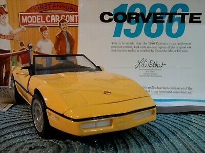 Franklin Mint 1986 Chevrolet Corvette..1:24..No Box.coa..hangtag..perfect Paint