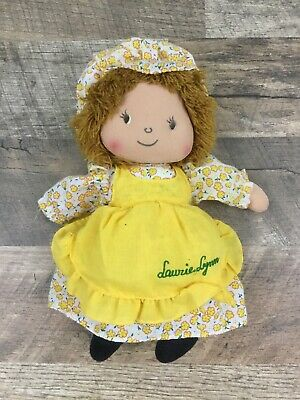 "Vintage 10"" Laurie Lynn Kamar Rag Doll Yellow Sunflowers Sunflower Dress"