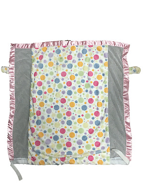 CoverTots Cozy Elegant Floating Pastel Dots w/ Pink Trim-Stroller Blanket