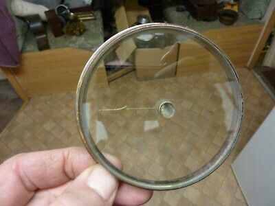 "Good Old Aneroid Barometer 3 11/16"" Bezel -- Bevelled Glass - Hand-Set Knob (B)"