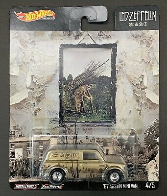 Hot Wheels Led Zeppelin Pop Culture Premium '67 Austin Mini Van 2019 NEW MINT