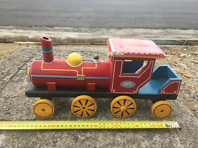 Timber Model Train . Hand made .