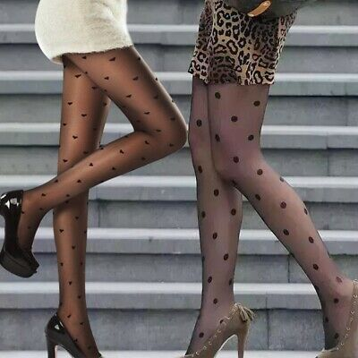 Women Girls Sexy Black Polka Dot Pantyhose Long Tights Stockings Hosiery Socks