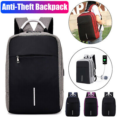 USB Charging Port & Lock Anti Theft Laptop Backpack School Bag for Mens Womens