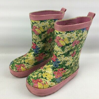 Girls Pink Size 5 Floral Bluezoo True Love Is Shoe Love Wellington Boots Wellies