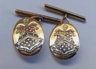 Barker College Hornsby Nsw Gold Cuff-Links Circa 1930