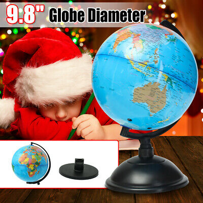 25/32cm World Globe Map Swivel Kids Stand Geography School Table Educational