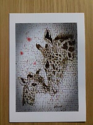 GIRAFFE & CALF LOVE baby A5 Print gift of ORIGINAL Wildlife Artwork