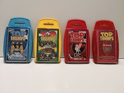 Top Trumps Card Game x 4 - Arsenal, Man City, Liverpool, World Football (383)