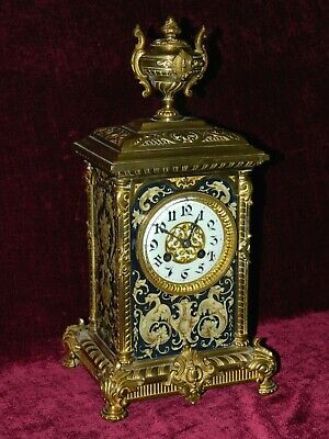 "Antique French Mantle Clock c.1880 - 90 in very good cond.42cm ( 16,5"" ) tall"