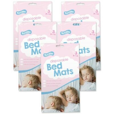 15x DISPOSABLE TODDLER BED MATS Potty Training Absorbent Pads Baby Dry Nights