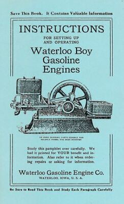 Waterloo Boy Setting Up and Operating Instruction Book Gas Engine Motor