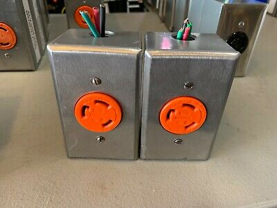 Lot of 2 70630 FIG Leviton L6-30R Isolated Ground Receptacle with enclosure