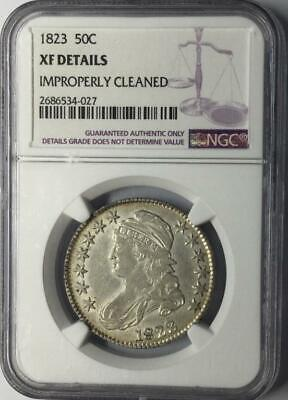 1823 50C Capped Bust Half Dollar NGC XF Details #